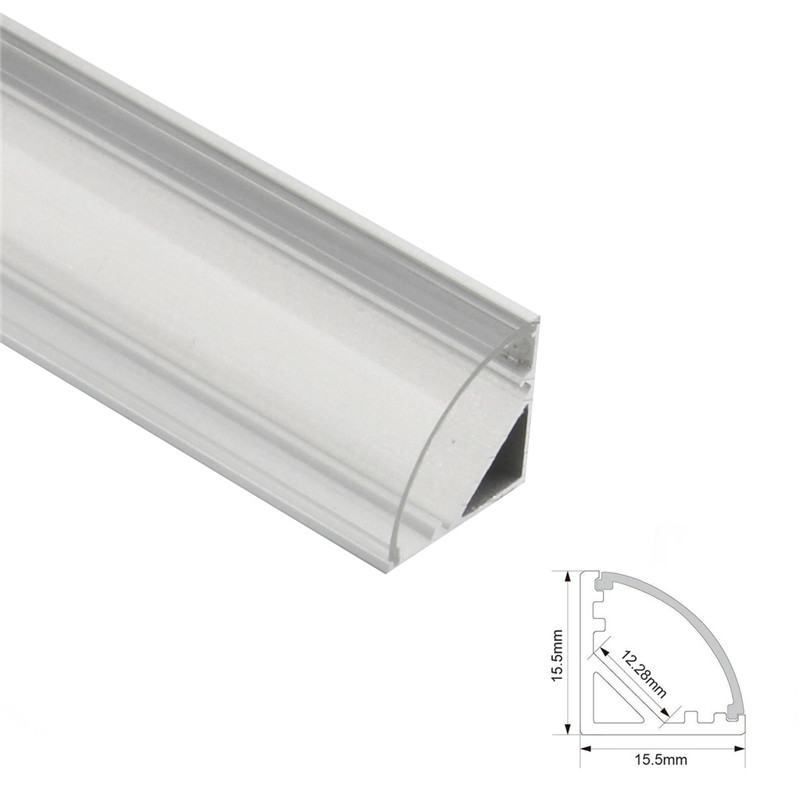 Image 4 - 1set 50cm LED Bar Lights Aluminium Profile Transparent Cover U/V/YW Style Shaped for LED Strip Light Parts-in LED Bar Lights from Lights & Lighting