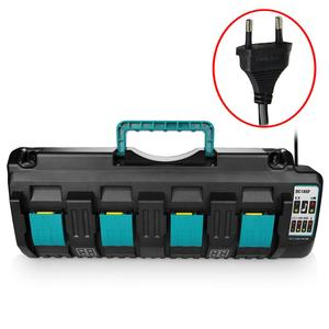 NEW For Makita DC18SF 4-Port Fast Optimized Charger 14.4V 18V Li-ion 3A Output Charger For BL1830,BL1430,DC18RD with USB port(China)