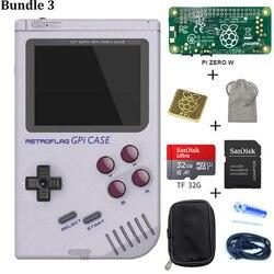 EM ESTOQUE! Original Retroflag GPi CASO Kit com 32G Cartão Micro SD Bolsa de Transporte Do Dissipador de Calor Para Raspberry W Zero Caso GPi