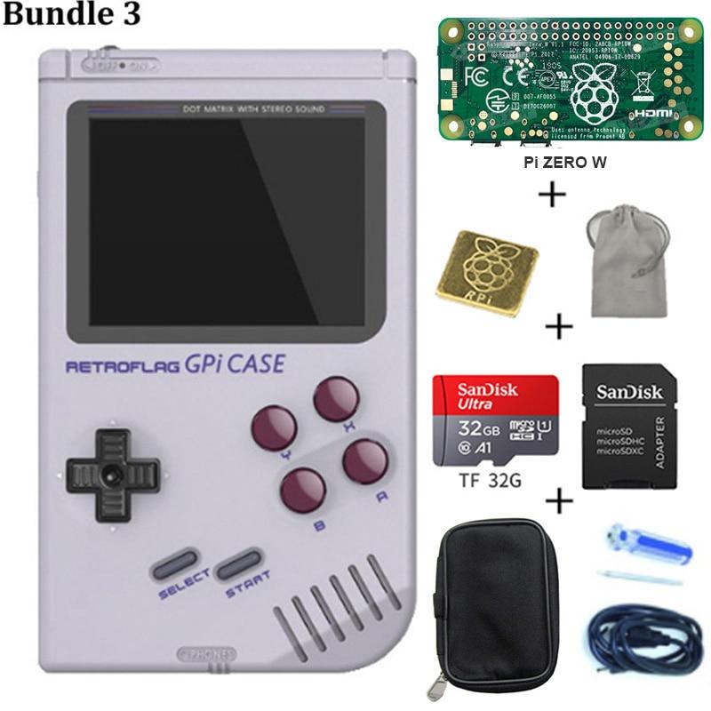 IN STOCK! Original Retroflag GPi CASE Kit With 32G Micro SD Card Heatsink Carrying Bag For Raspberry Zero W GPi Case