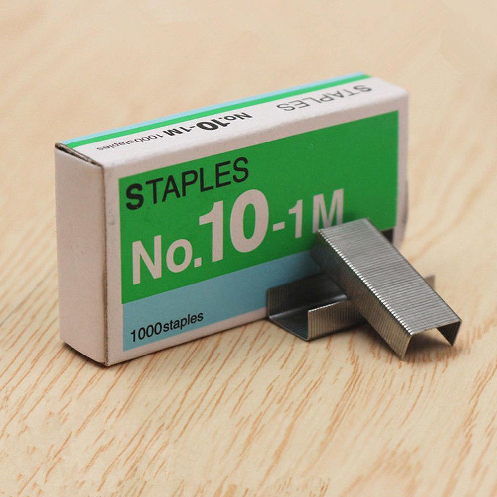 1000pcs/box Size No10 Metal Staples For Desktop Stapler Tools Tapetool Normal Accessories Staples Office Stationery Z4P5