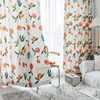 Nordic ins wind hand-painted peach curtains custom fresh and rural children's blackout curtains for living room door curtain