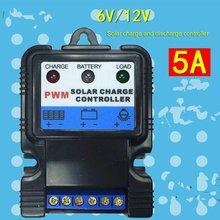 Авто Панели солнечные контроллер заряда 6V 12V 5A литий-ионный Батарея Зарядное устройство регулятор для уличный светильник