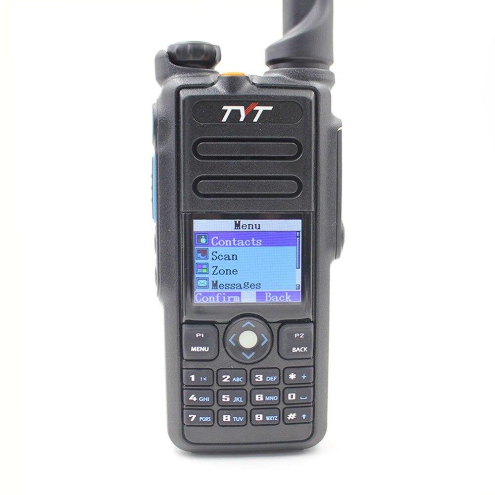 TYT MD-2017 DMR de doble banda Digital de mano GPS de Radio de dos vías transceptor con Cable de programación Controlador de red de 12 canales IO, modo esclavo maestro Modbus RTU, relé Anolog Digital, módem transceptor