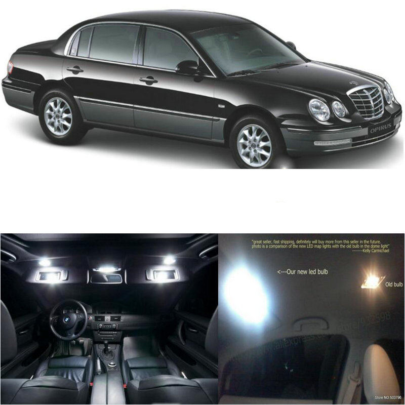 LED Interior Car Lights For <font><b>kia</b></font> opirus spherical room dome map reading foot door lamp error free 11pc image