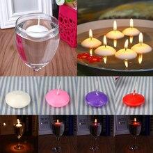 20 шт плавающие свечи для домашнего декора, вечерние плавающие свечи Dedals, 3,8x1,6 см, белые/розовые/красные/фиолетовые, без запаха, на день рождения, свадьбу, маленькие