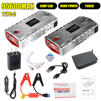2 Color 95600mAh Multi Function Car Jump Starter Portable USB Power Bank Battery Booster Buster 800A Car Battery Booster Clamp|Jump Starter| |  -