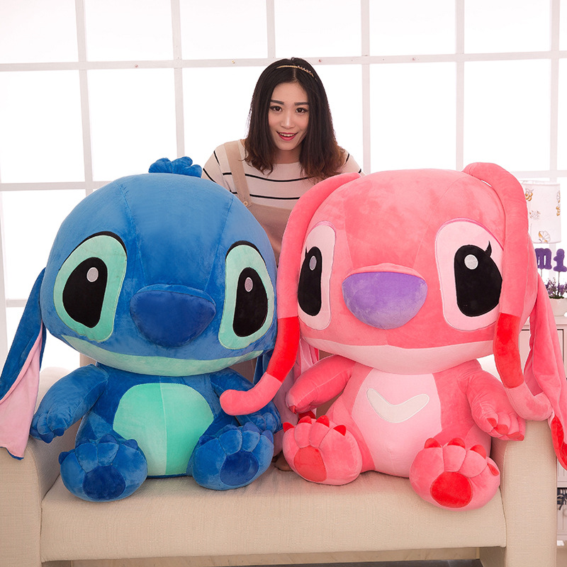 20-60cm Big Size Giant Cartoon Stitch Plush Dolls Lilo & Stitch Stich Plush Toy Doll Children Stuffed Toy Birthday Gift