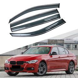 Para BMW Serie 3 F30 2011-2019 Ventana de coche parasol de lluvia visera protectora cubierta protectora Marco de ajuste accesorios de pegatina