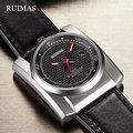 Мужские наручные часы RUIMAS  наручные часы с кожаным ремешком  механические  в стиле хип-хоп