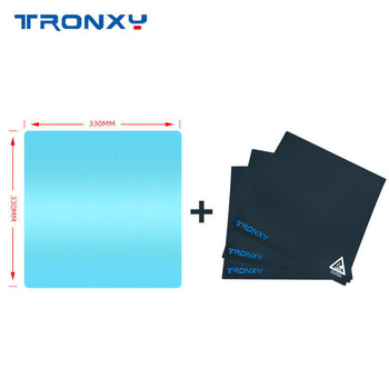 Tronxy 3D printer Part 1pc Aluminum Plate + 3pc Black Heat Paper 3D print masking tape heatbed sticker impresora 3d Accessories