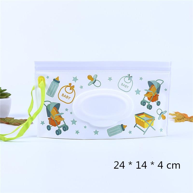 1 клатч и чистые салфетки, чехол для переноски, экологически чистые влажные салфетки, сумка-раскладушка, косметичка, удобная для переноски, с застежкой, контейнер для салфеток - Цвет: 4