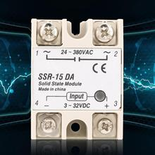 SSR-15DA 3-32V DC to 24-380V AC Solid State Relay ssr For Industrial Automation Process solid state relay ssr 40va solid state relay for industrial automation process ssr 40va voltage relay