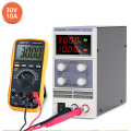 Labor dc netzteil einstellbar spannung regler stabilisator schalt variable bank quelle 30v 10a ac 110v 220v wanptek