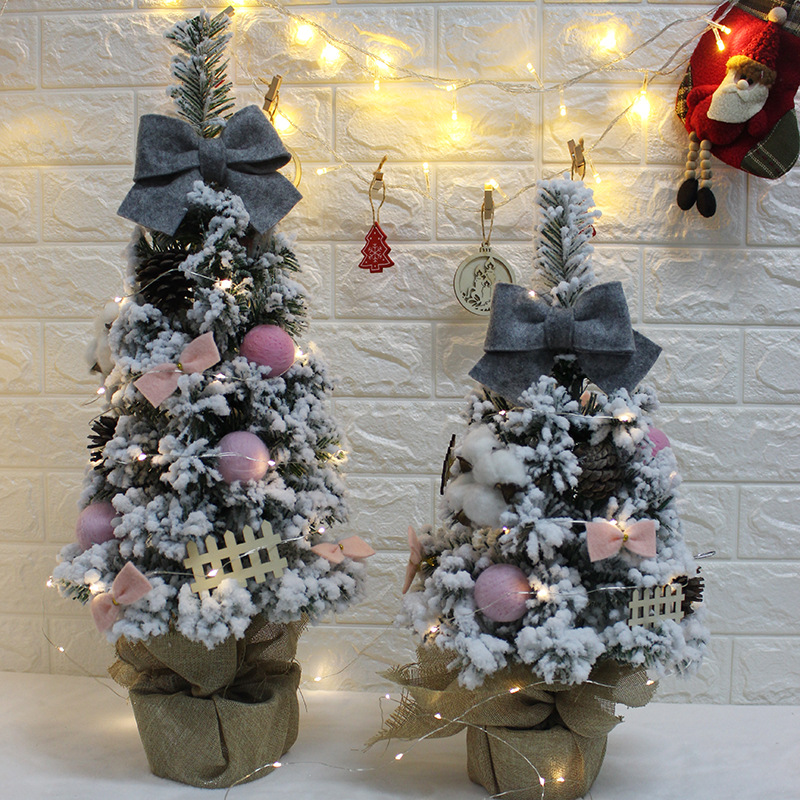 Mini Decoration Small Christmas Tree Set 4560CM Desktop Decorations Store Showcase Decoration Site Decorative Props