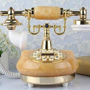 Image 3 - هاتف أرضي قديم من اليشم الطبيعي هاتف سلكي قديم الطراز مع مكبر صوت ، سطوع قابل للتعديل ، شاشة
