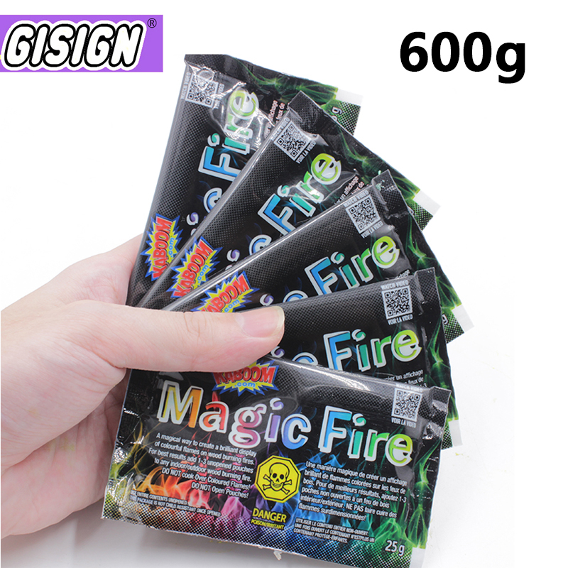 600g Mystical Fire Coloured Magic Flame For Bonfire Campfire Party  Fireplace Flames Powder Magic Trick Pyrotechnics Toy
