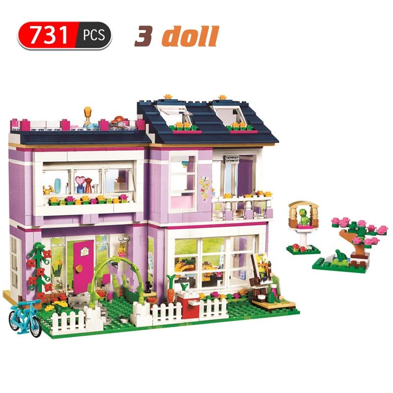 731 шт Девушки дружба дом строительные блоки Совместимые Друзья Девушки укладки кирпичи Фигурки игрушки для детей Подарки|Блочные конструкторы|   | АлиЭкспресс