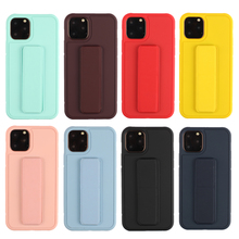 For iPhone 11 Pro 11 Pro Max Case Soft TPU Protective Cover with Kickstand and Hand Strap for iPhone X XS Max XR 6 6S 7 8 Plus iphone case for iphone x xs xr xs max 8 7 6 6s plus iphone11 iphone11 pro iphone 11 pro max luxury square soft leather kickstand