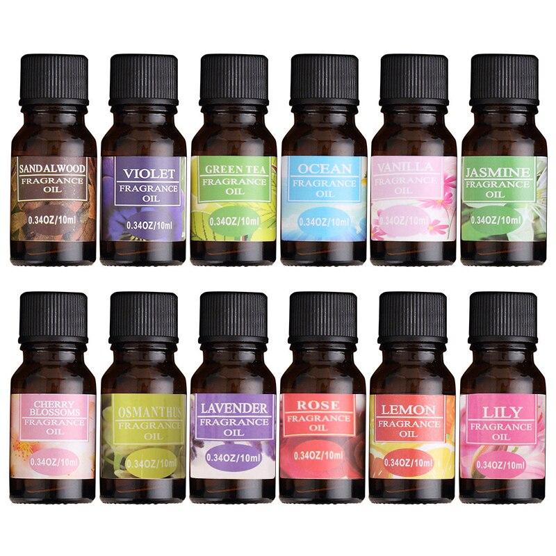 12 ароматов 10 мл эфирное масло натуральный ароматерапия аромат эфирное масло розмарина герани эвкалипта расслабляющее ароматное масло TSLM2