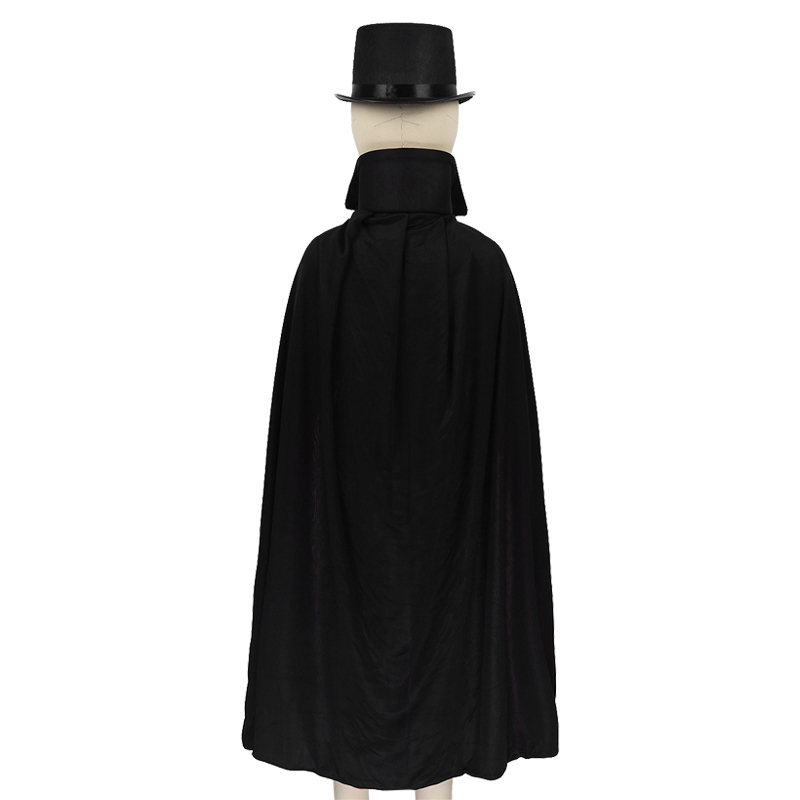 Kids Boys Magician Role Play Cosplay Costumes Outfit Cape Hat Magic Wand Gloves Set Children's Halloween Festivities Magic Cape 6