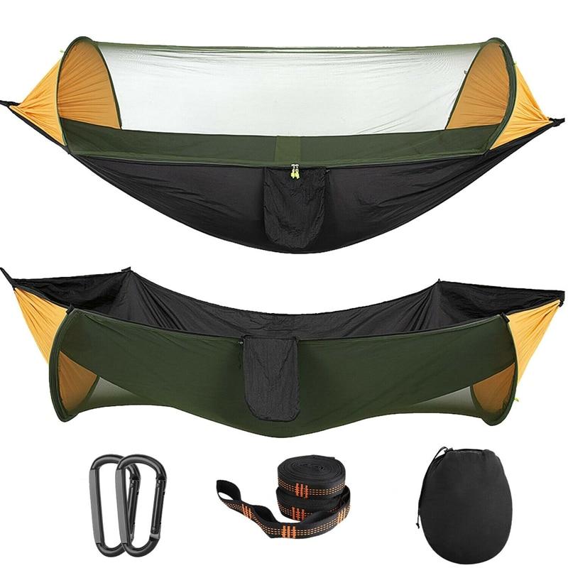 Портативная палатка Кемпинг гамак с москитной сеткой многоразовое использование портативный гамак палатка-качели для пешего туризма кемп...