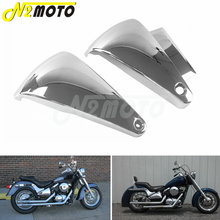 Chrome Left & Right ABS Motorcycle Fairing Battery Side Fairing Covers For Kawasaki Vulcan VN800 VN800A VN400 Classic 1995 2006