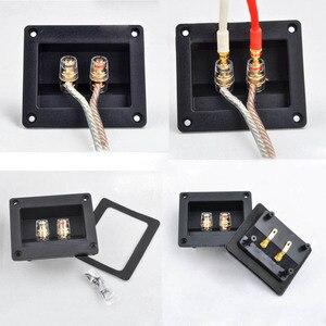 Image 5 - 2 adet Iki Pins Ses Hoparlör Muz Konektörü Bakır Terminali Hoparlör Kablo Ses Soketi