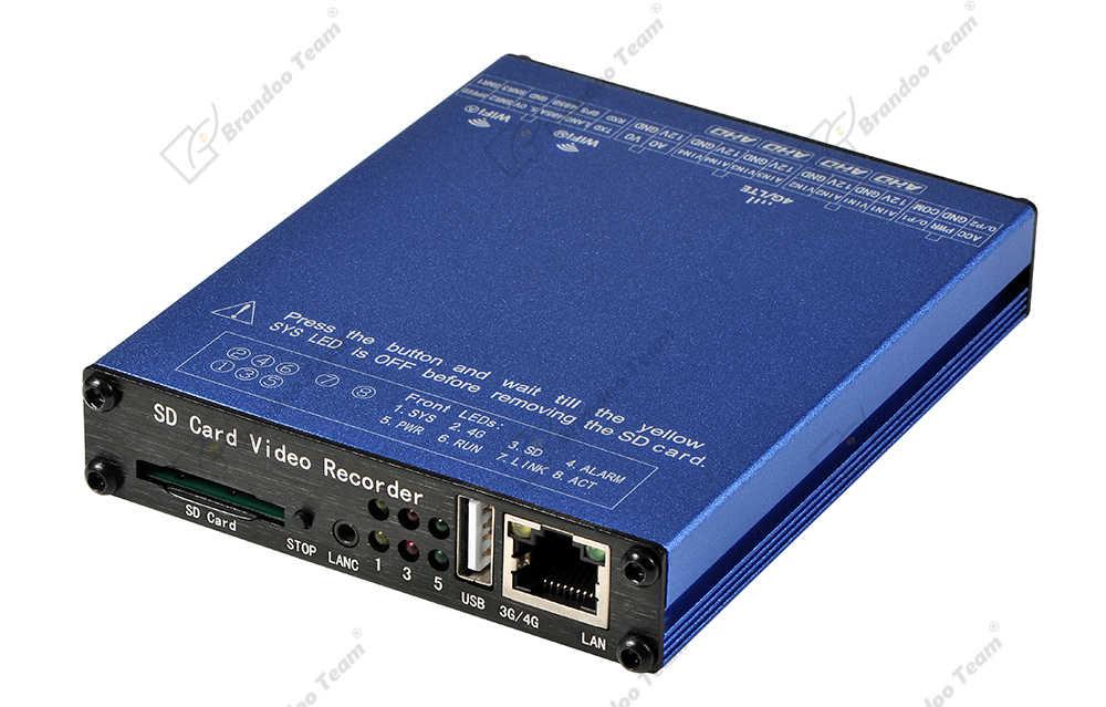 GPS 4G WIFI 4 Kanaals Auto DVR H.265/H.264 Sd-kaart DVR Recorder met G-sensor voor auto Taxi Schoolbus Monitoring