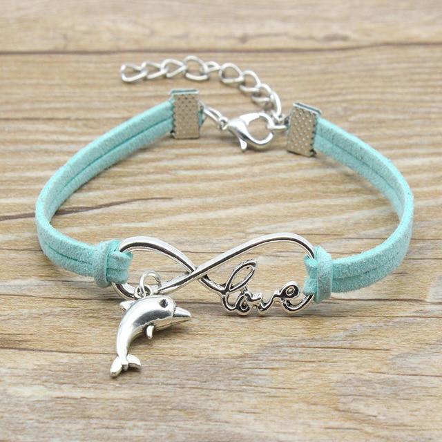 Vegan Suede Bracelet Minimalist Infinity Bracelet