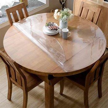 Toalha de mesa impermeável transparente do pvc da toalha de mesa do teste padrão sólido toalha de mesa à prova de óleo de vidro macio pano 1.0mm mantelas de mesa