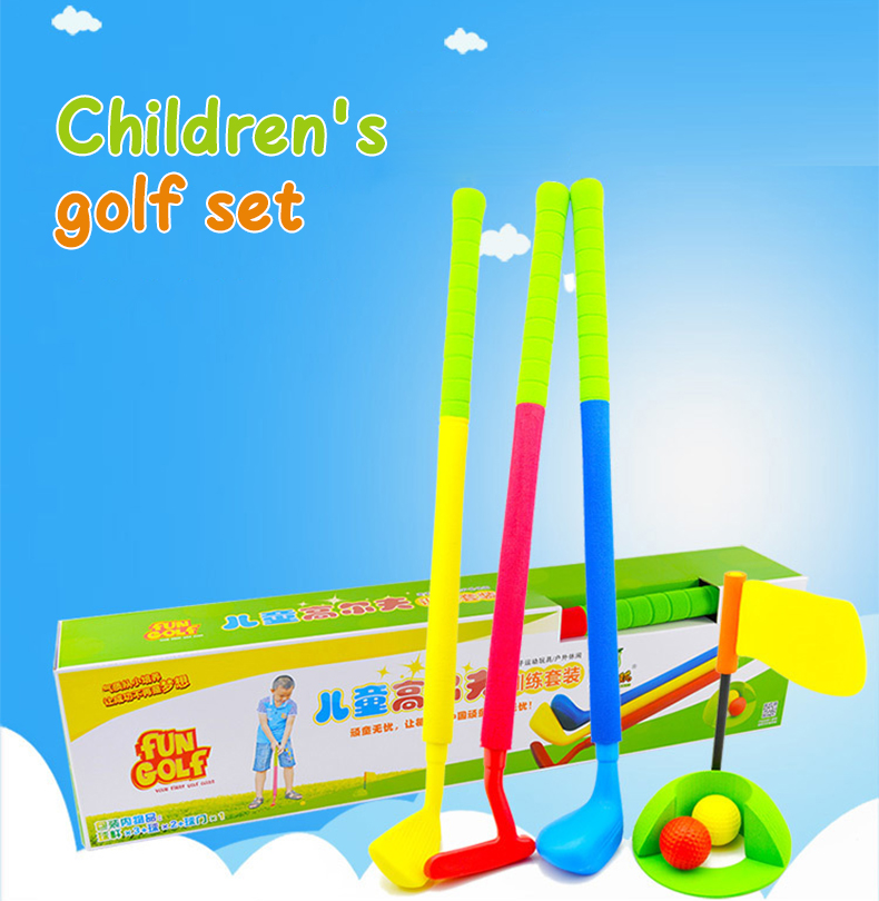 New Fashion Forcefree+  Children Kids Outdoor&Indoor Sports Games Toys Multicolor Rubber Material  Mini Children's Golf Club Set