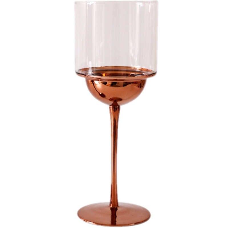Kreatif Gelas Anggur Bergaya Eropa Disadur Crystal Kaca Piala Tekstur Logam Fashion Anggur Kaca Cangkir Gelas Sampanye