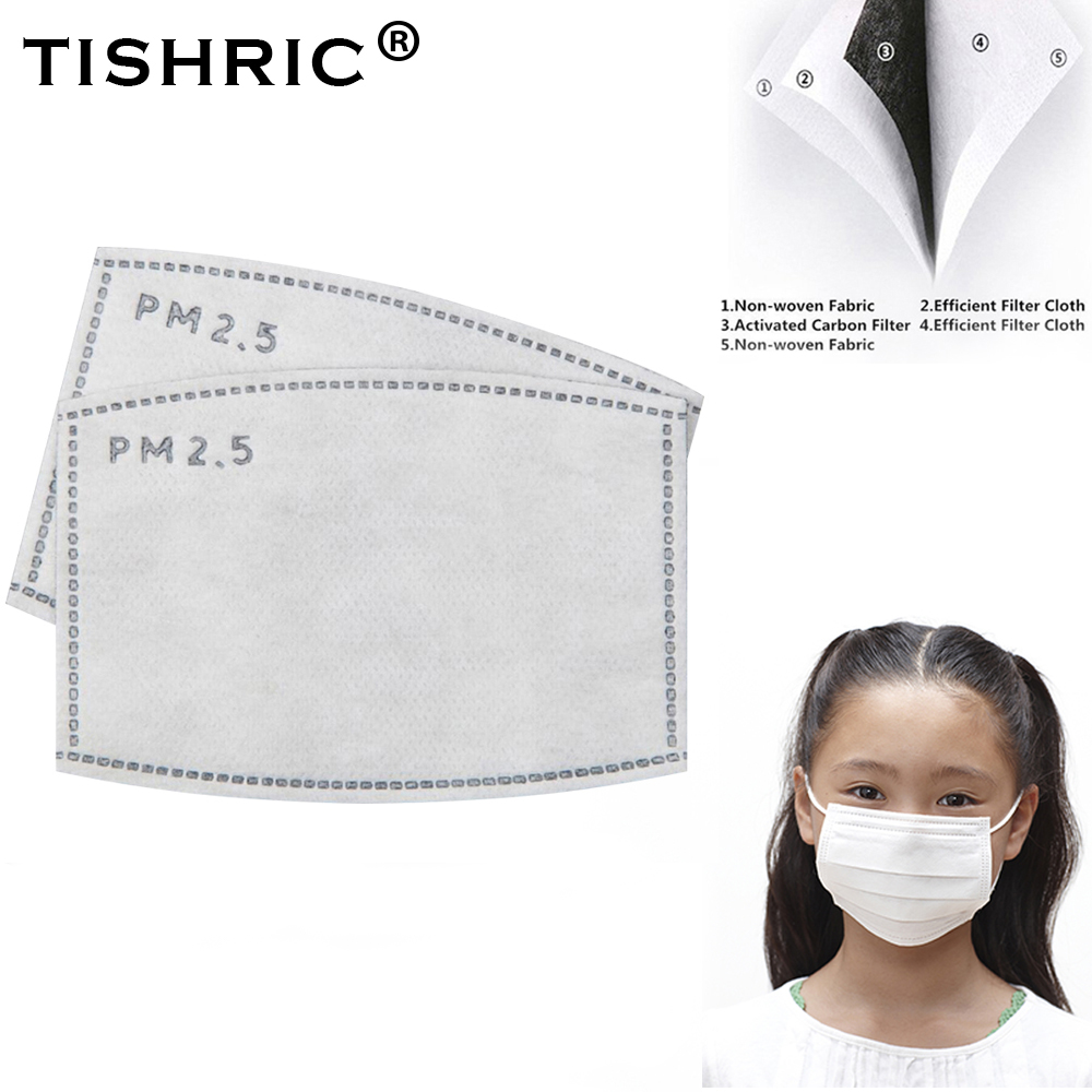 TISHRIC N95 Activated Carbon Replacement Filter For Gas/Respirator/FFP2/FFP3 Kids Mouth Mask Protection Disposable Cotton PM2.5