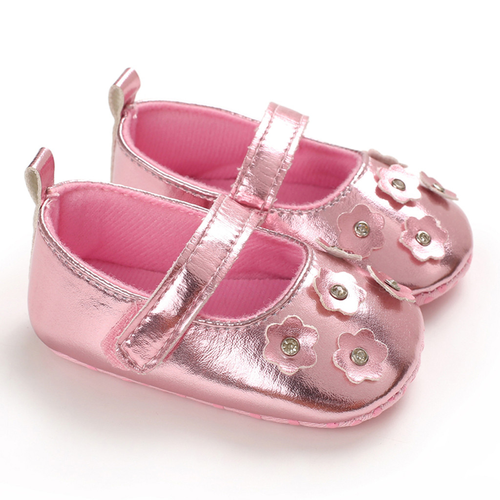 Baby Girl Soft Sole Shoes Bow Wild Infant Princess Crib Shoes Lovely Sweet Cute