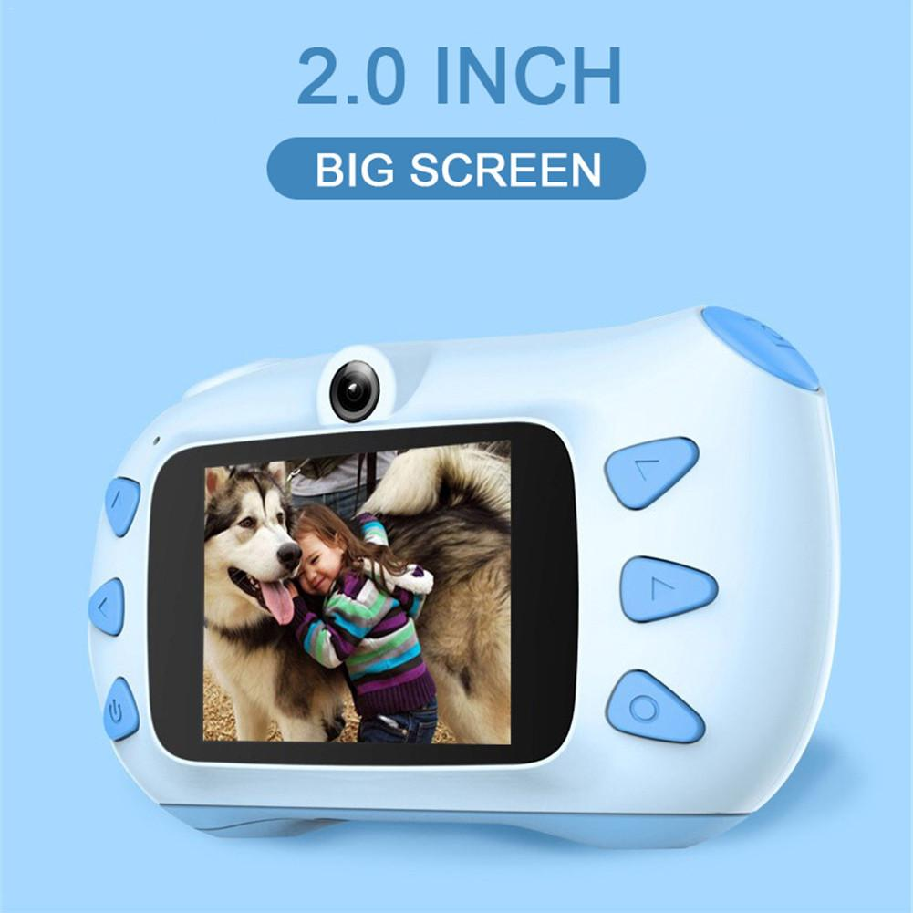 2 zoll Mini HD Bildschirm Chargable <font><b>Digital</b></font> Kamera Kinder Cartoon Nette Kamera Spielzeug Outdoor Fotografie Requisiten Für Kind Geburtstag Geschenk image