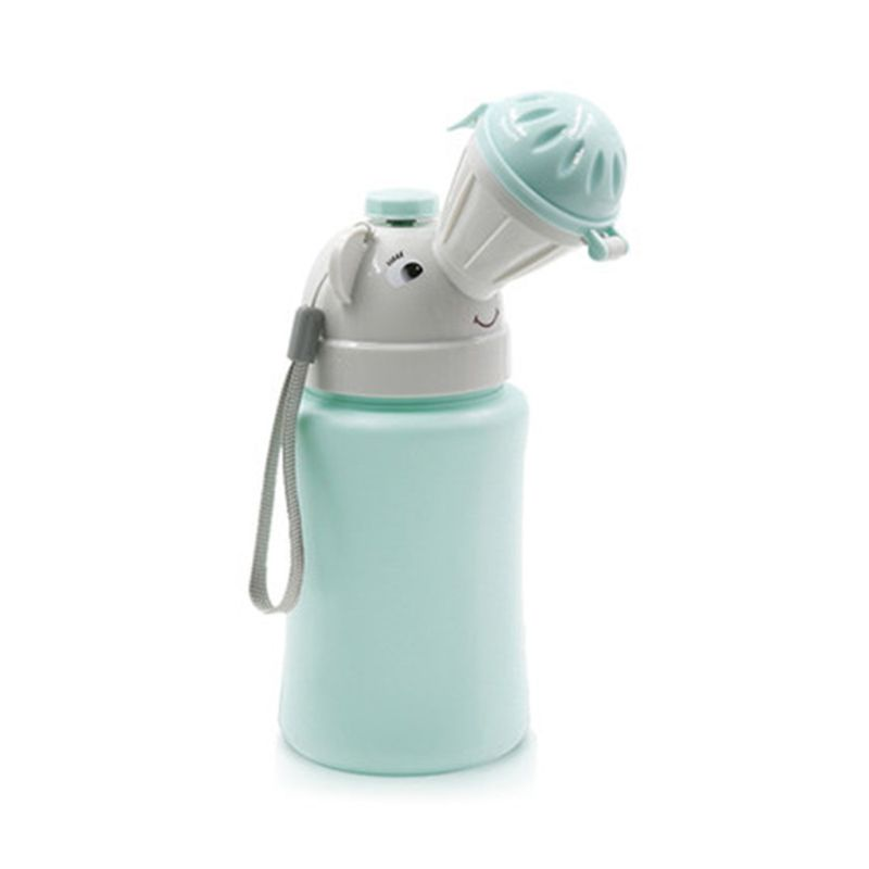 500ML Baby Portable Urinal Toilet Boy Girl Cars Travel Supplies Potty Training E65D