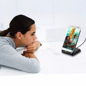 Image 5 - צ י אלחוטי מטען עבור סמסונג גלקסי A80 A70 A60 A50 A40 A30 A20e A20 מהיר אלחוטי טעינת Dock USB מטען טלפון אבזר