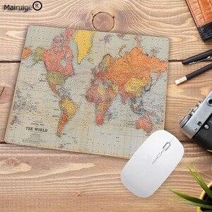 Image 4 - Mairuige Grande Promozione Del Computer Mouse Pad con di Piccola Dimensione 180X220X2MM Mappa Del Mondo Stampe PC Tappetino Mouse Liscio Morbido Anti Slip