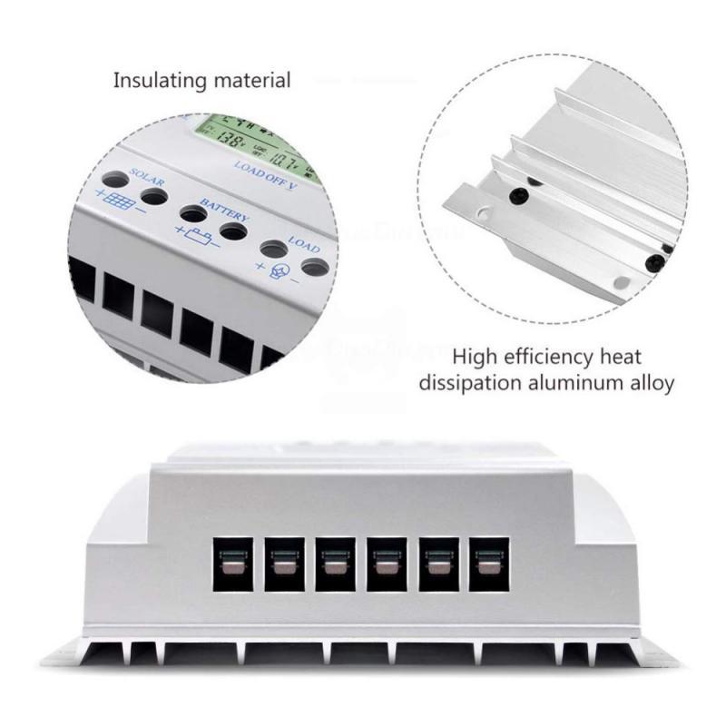 de painel solar regulador de bateria display lcd temporizador
