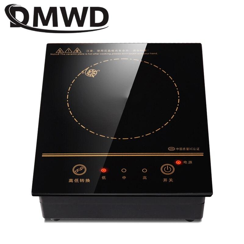 Электрическая индукционная мини-плита, магнитная, с проводным управлением, встроенная варочная панель, горелка, водонепроницаемый нагреватель, котел для молока, чая, плита, варочная панель 3