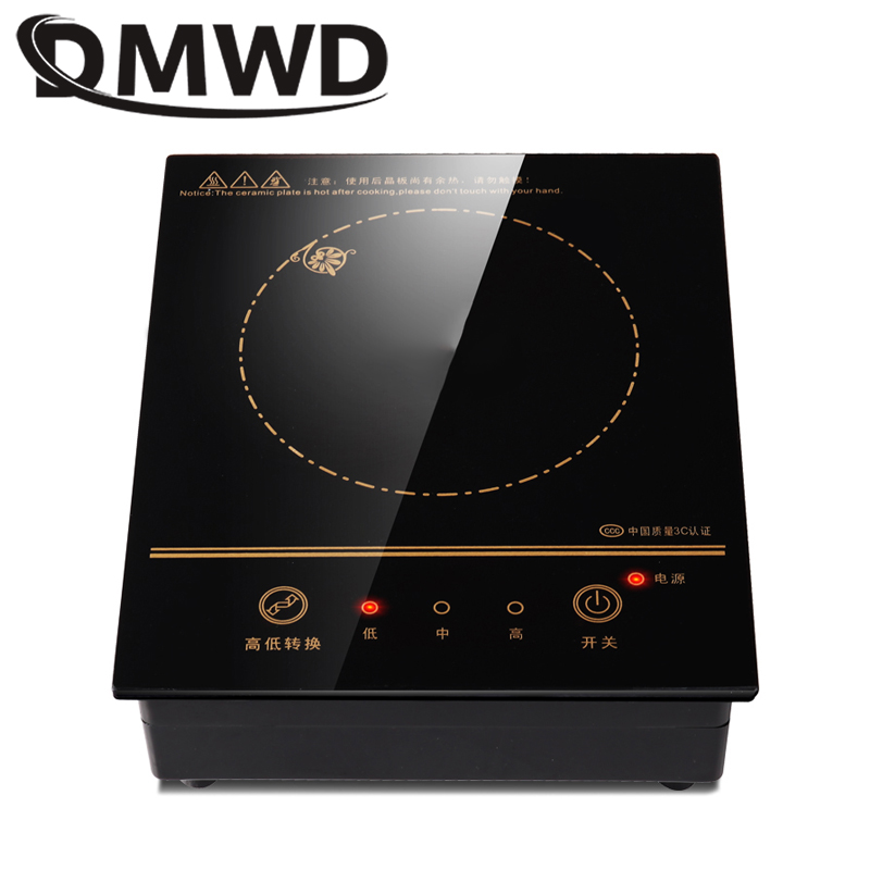 DMWD Mini Electric Magnetic Induction Cooker Wire control Embedded Hotpot Hob Burner Waterproof hot pot Tea Boiler Stove Cooktop(China)