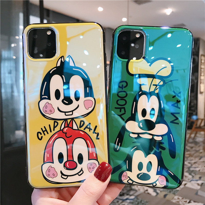 Chip n Dale Case For iPhone 6 6S 7 8 Plus Cute Cartoon Matte Scrub TPU Silicone Case for iPhone X XS Max XR S Soft Back Cover