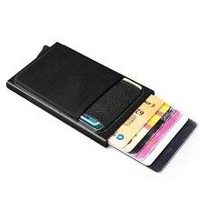 Wallet Automatic Cash-Pocket Pop-Up THINKTHENDO Purse Credit-Card-Case Money-Belt Rfid Blocking