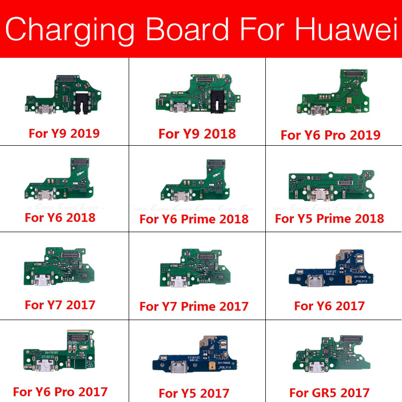 Charger USB Jack Board For Huawei GR5 Y5 Y6 Y7 Y9 PRO Prime 2017 2018 2019 Charging Port Module Usb Connector Board Replacement