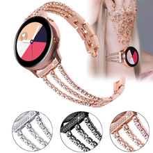 Bracelet de montre rose pour samsung galaxy gear s3 20, bracelet en acier inoxydable pour femmes, boucle galaxy 46mm, pour huawei gt