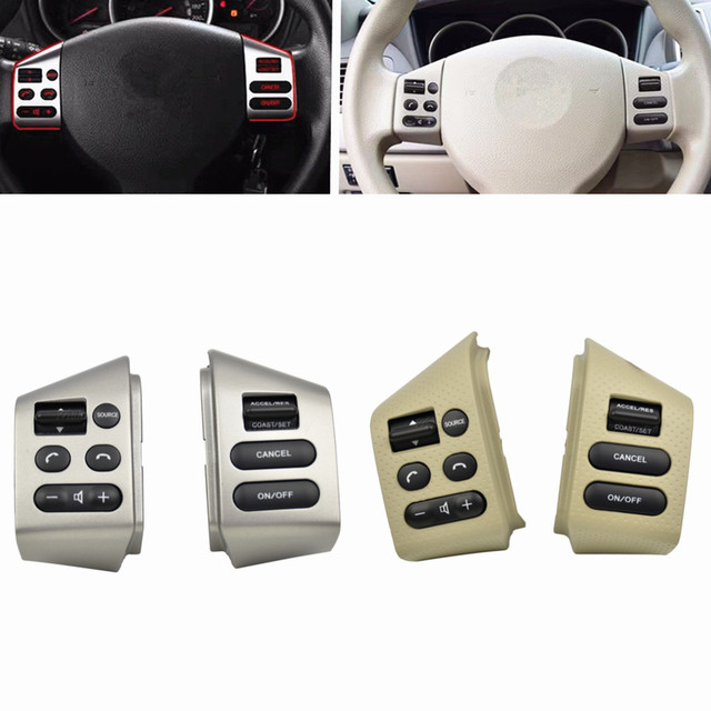 NEW Car accessories steering wheel control buttons with backlight Buttons Connecting wire FOR Nissan LIVINA TIIDA SYLPHY