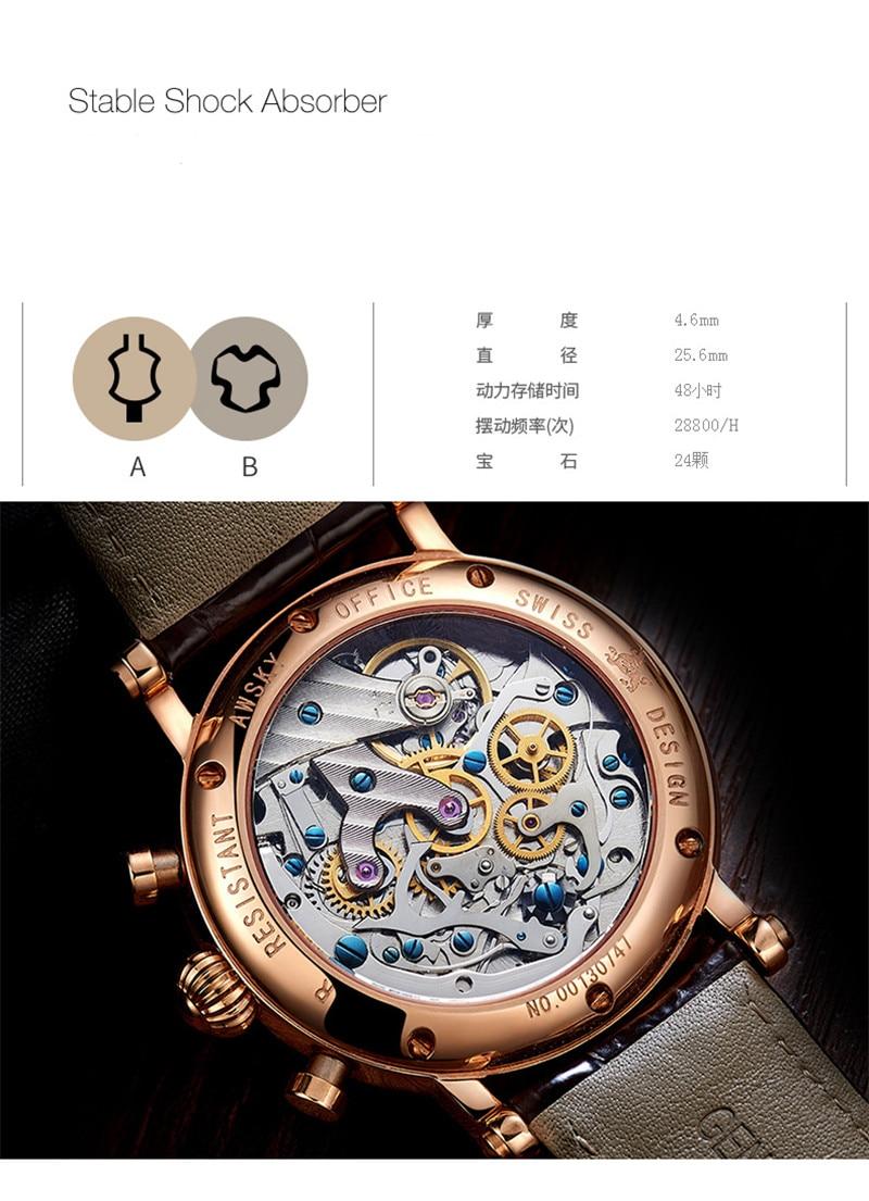 cronógrafo multifuncional manual relógio de pulso mecânico