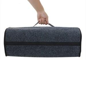 Image 4 - Car Soft Felt Storage Box Trunk Bag Vehicle Tool Box Multi use Tools Organizer Bag Carpet Folding for emergency Box