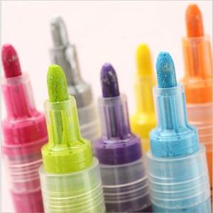 Image 4 - 14 สี STA Bright & ที่มีสีสันกันน้ำ METALLIC Marker สีอะคริลิคปากกา Sketch CRAFT